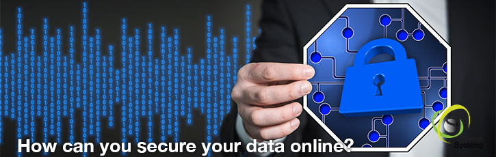 How can you secure your data online?